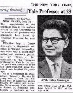 Dünya'nın En Genç Yale Profesörü Oktay Sinanoğlu