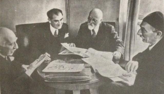 İbnülemin Mahmud Kemal İnal, Mehmet Emin Yurdakul, Hasan Âli Yücel, Halid Ziya Uşaklıgil