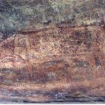 Kaya Sığınakları Bhimbetka , Taş boyama , Taş Devri , Hindistan