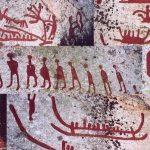 Petroglifler , İsveç, İskandinav Bronz Çağı (boyalı)