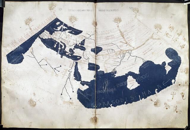Batlamyus tarafından Dünya haritasının 15. yüzyılda yapılmış çizimi